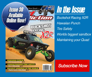 Buckshot Racing X2R makes cover of Sand Addiction Magazine