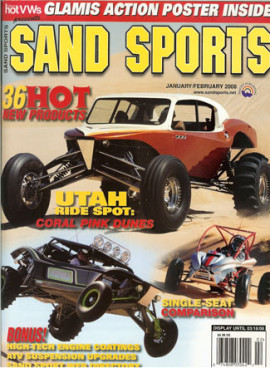 Buckshot Racing X-5 Article in Sand Sports Magazine