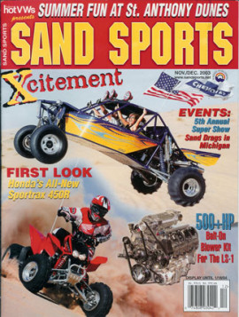 X-3 Featured in Sand Sports Magazine