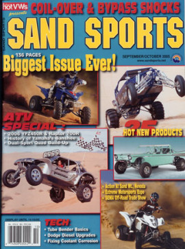 X-4 Featured in Sand Sports Magazine